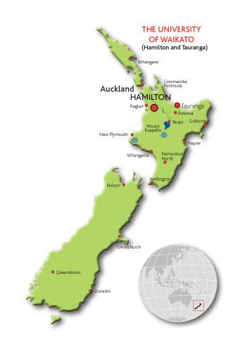 Waikato New Zealand Map.Location Waikato Nz Waikato Management School University Of